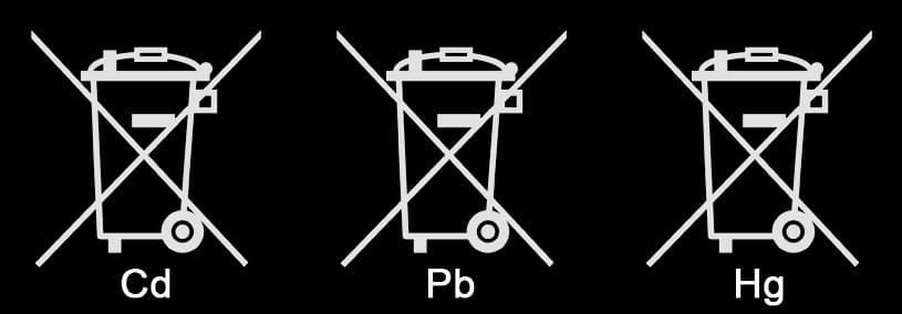 rechtlich verpflichtende Symbole zur Verwertung von Altbatterien